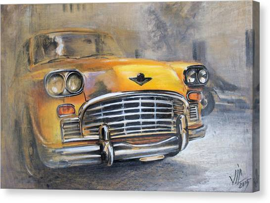 Checker Taxi Canvas Print