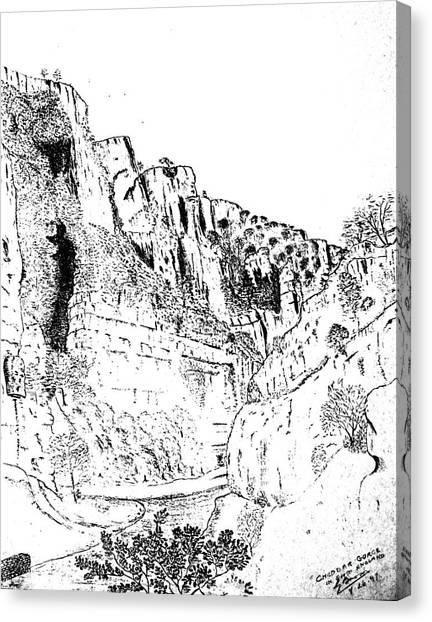 Cheddar Gorge Canvas Print