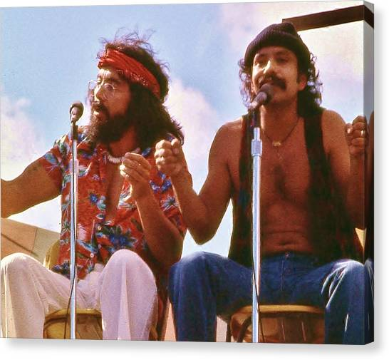 Cheech And Chong Of Old Canvas Print
