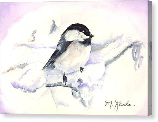 Cheeky Chickadee Canvas Print