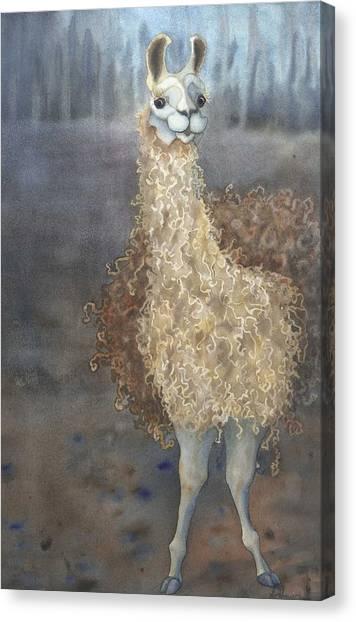 Cheeky The Llama Canvas Print
