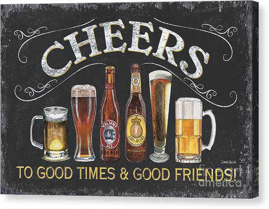 Liquor Canvas Print - Cheers  by Debbie DeWitt