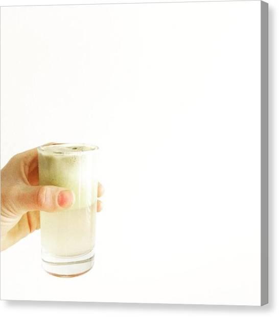 Music Canvas Print - Cheers, Happy Humpday! #juice #raw by E M I L Y  B U R T O N