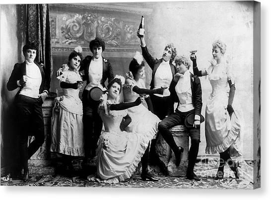 Beer Canvas Print - Cheers Ladies by Jon Neidert