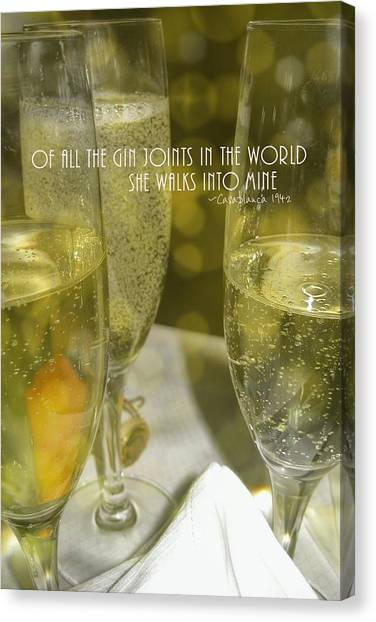 Cheers Quote Canvas Print by JAMART Photography
