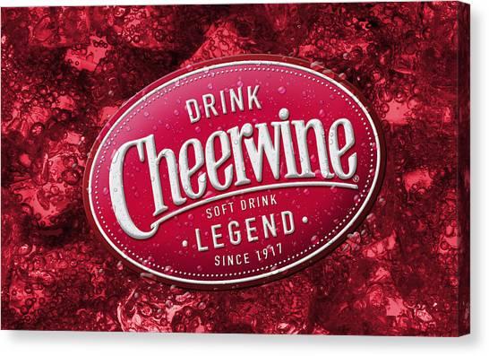 Cheerwine Canvas Print - Cheerwine by Kimmy Jardetzky
