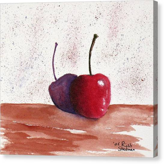 Cheery Cherry Canvas Print by Rich Stedman