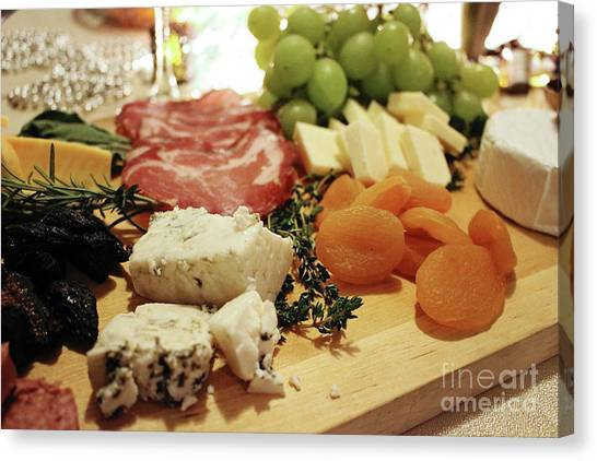 Cheese And Meat Canvas Print