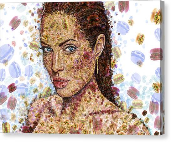 Cheeseburger Jolie Canvas Print