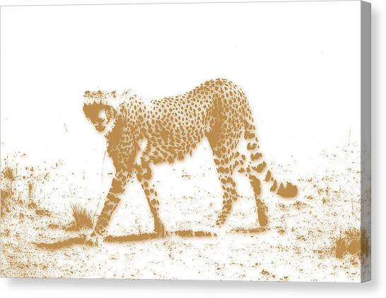Mount Kilimanjaro Canvas Print - Cheetah 3 by Joe Hamilton