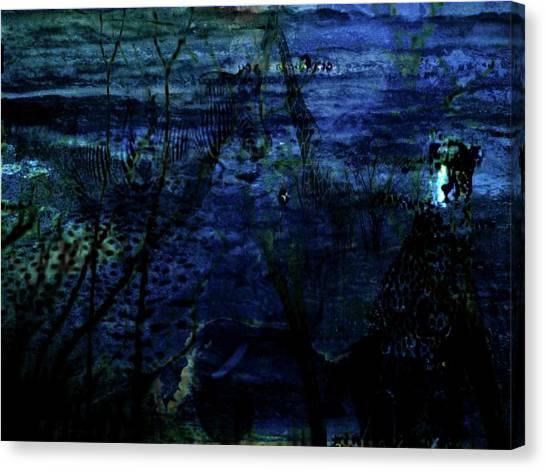 Cheetah Blue Canvas Print by Carole Guillen