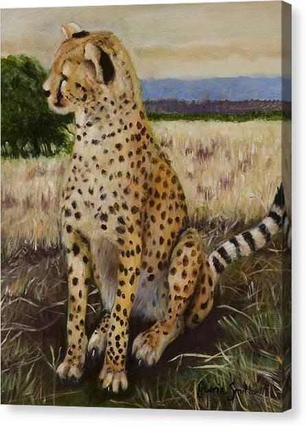 Cheetah Canvas Print by Gloria Smith
