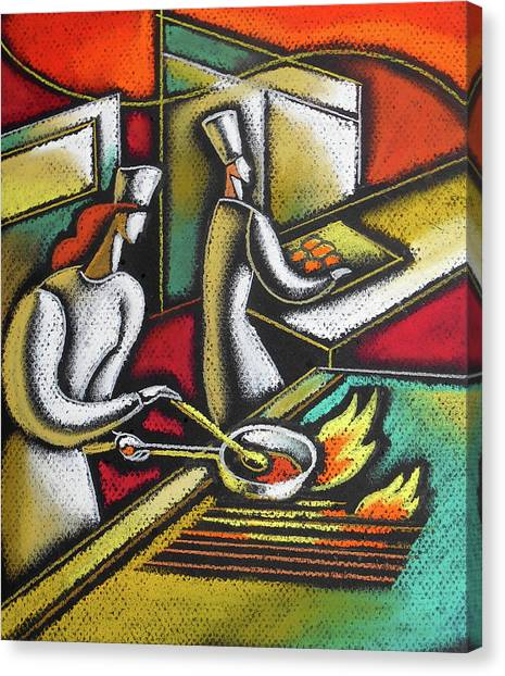 Hot Sauce Canvas Print - Chef And Cooking Food by Leon Zernitsky