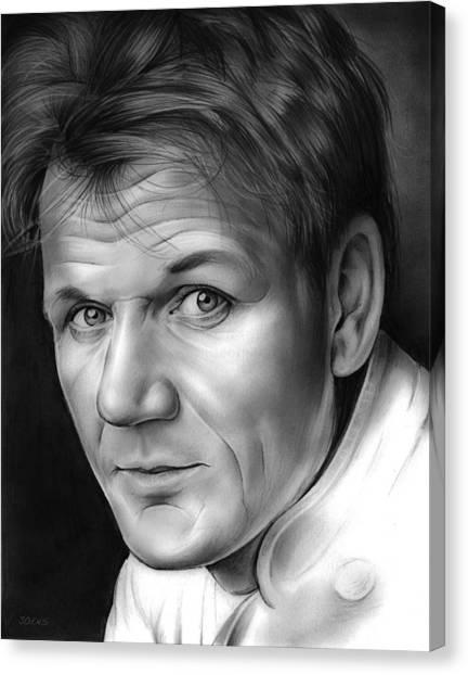 Chefs Canvas Print - Chef Ramsay by Greg Joens