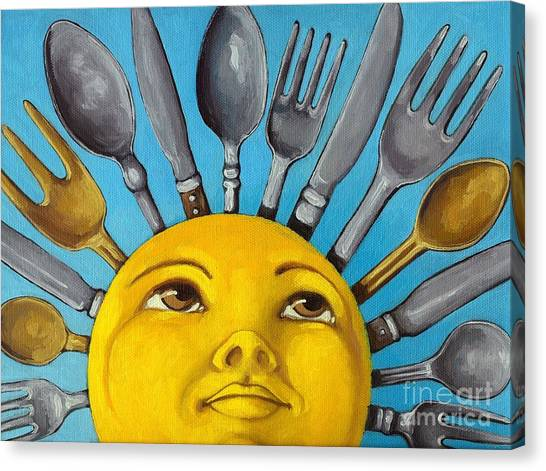 Chefs Delight - Cbs Sunday Morning Sun Art  Canvas Print