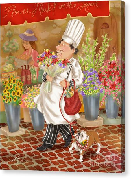 Chefs Go To Market II Canvas Print