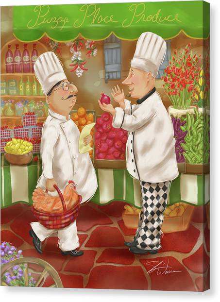 Chefs Go To Market Iv Canvas Print