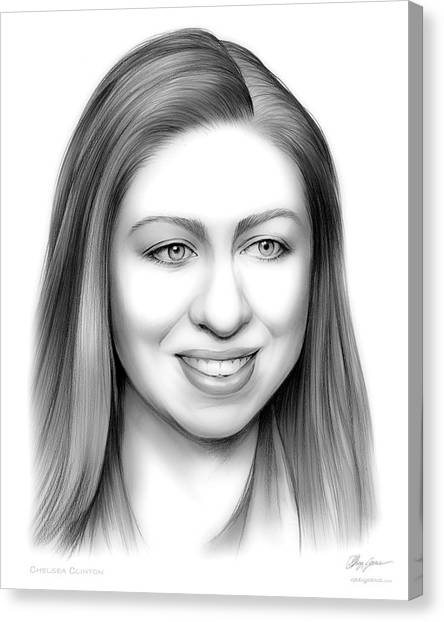 Bill Clinton Canvas Print - Chelsea Clinton by Greg Joens