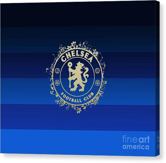 Chelsea Fc Canvas Print - Chelsea Fc by Sonata Perly