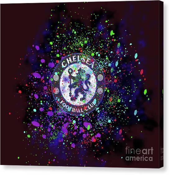 Chelsea Fc Canvas Print - Chelsea by Koma Rudiz