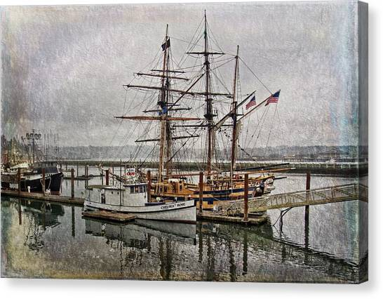 Chelsea Rose And Tall Ships Canvas Print