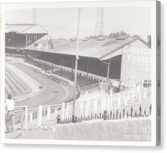 Stamford Bridge Canvas Print - Chelsea - Stamford Bridge - East Stand 1 - August 1969 by Legendary Football Grounds