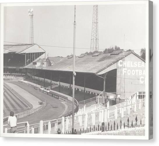 Stamford Bridge Canvas Print - Chelsea - Stamford Bridge - East Stand 3 - August 1969 by Legendary Football Grounds