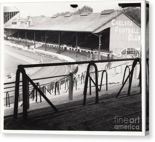 Stamford Bridge Canvas Print - Chelsea - Stamford Bridge - East Stand 4 - August 1969 by Legendary Football Grounds
