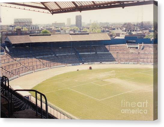 Stamford Bridge Canvas Print - Chelsea - Stamford Bridge - South Terrace - Shed End - April 1986 by Legendary Football Grounds