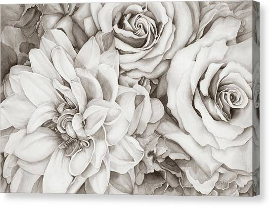Chelsea's Bouquet - Neutral Canvas Print
