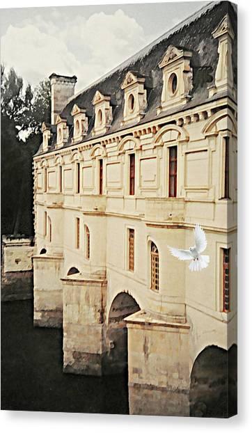 Chenonceau Castle Canvas Print - Chenonceau Dreams by Diana Angstadt