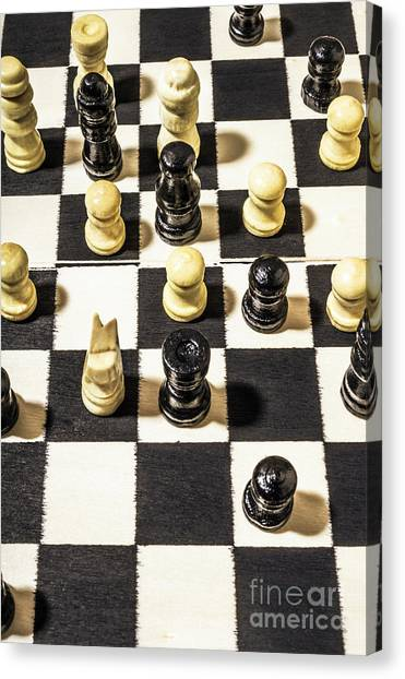 Decision Canvas Print - Chequered Strategic Battle by Jorgo Photography - Wall Art Gallery