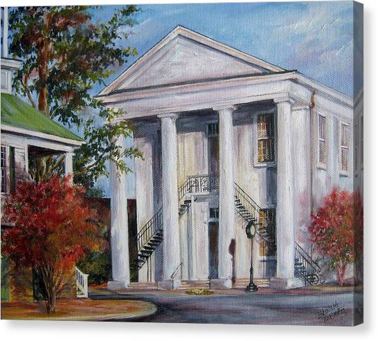 Cheraw Town Hall In The Fall Canvas Print