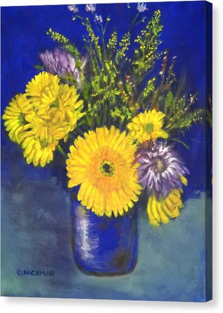 Cheris Flowers Canvas Print by Olga Kaczmar