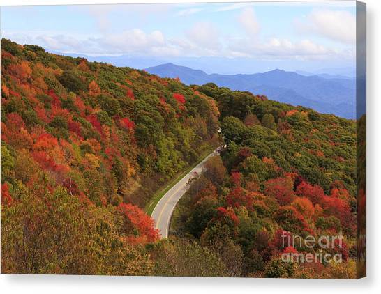 Cherohala Skyway In Nc Canvas Print