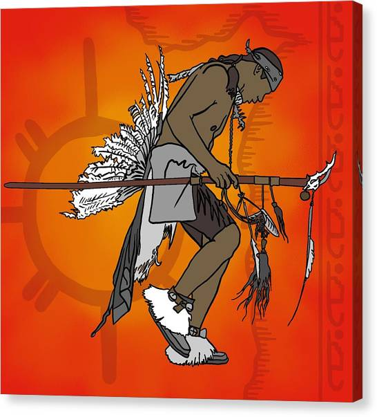 Cherokee 1 Canvas Print by M Blaze Wolenski