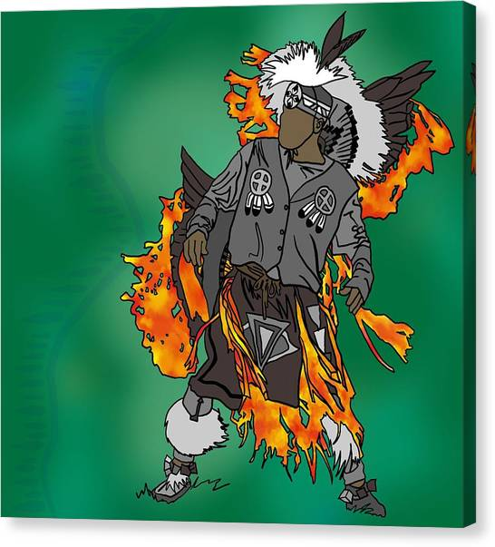 Cherokee 2 Canvas Print by M Blaze Wolenski
