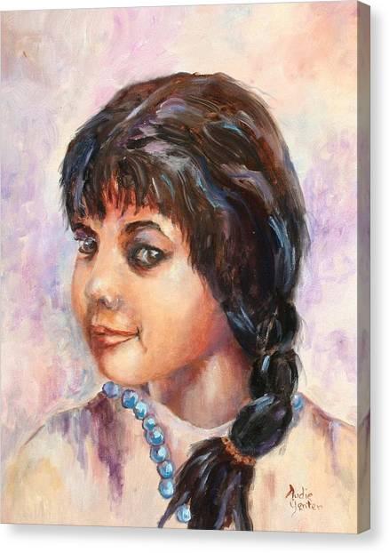 Cherokee Princess Canvas Print by Audie Yenter