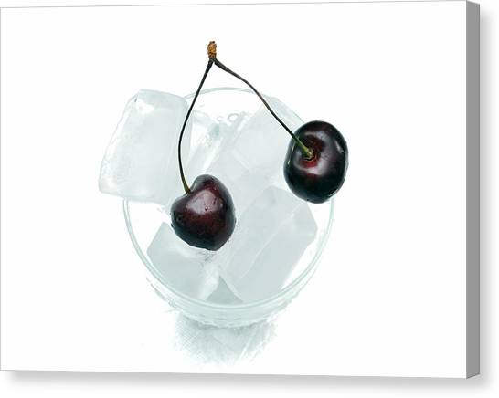 Cherries On Ice. Canvas Print by Terence Davis