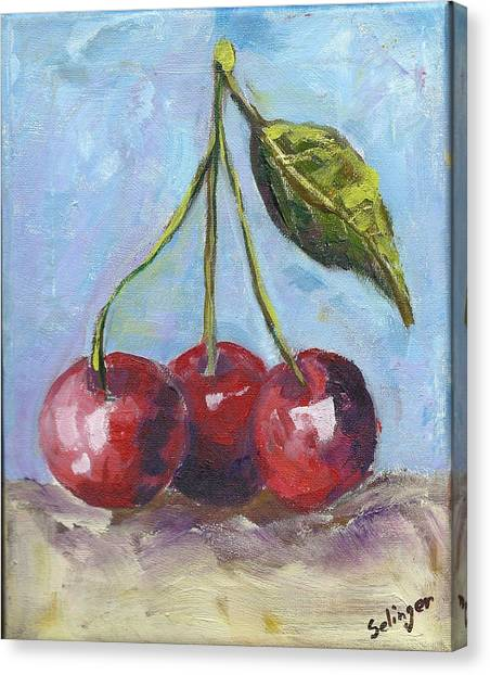 Cherries One Two Three Canvas Print