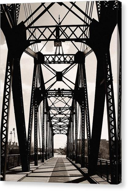 Cherry Avenue Bridge Canvas Print