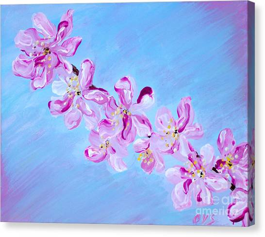 Cherry Blossoms. Thank You Collection Canvas Print