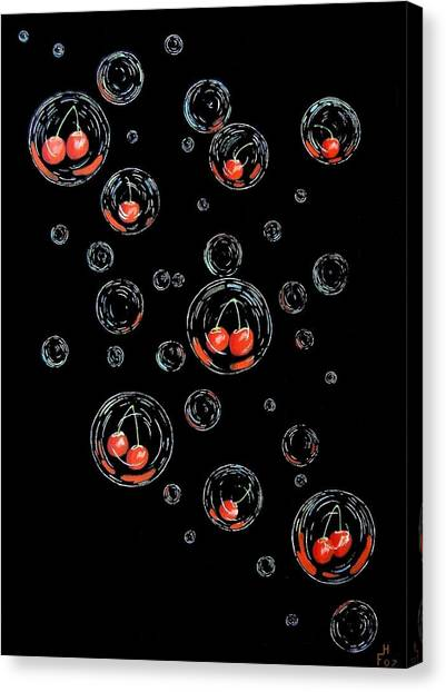 Cherry-bubs Canvas Print