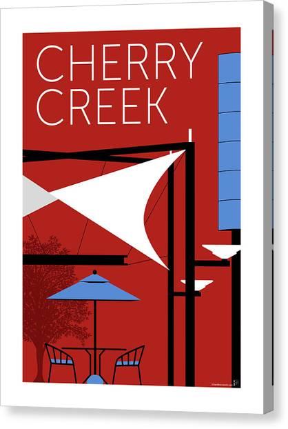 Canvas Print featuring the digital art Cherry Creek Red by Sam Brennan