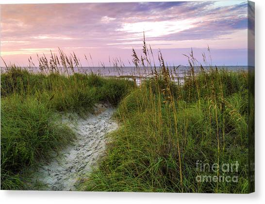 Cherry Grove Beach Scene Canvas Print