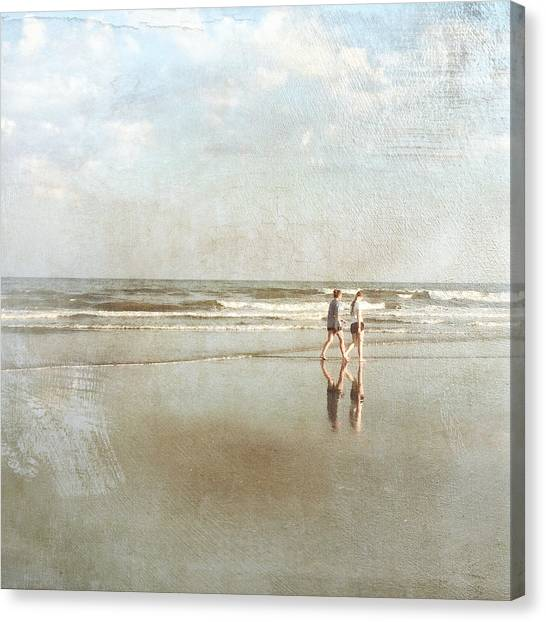 Cherry Grove Beach Walk Canvas Print