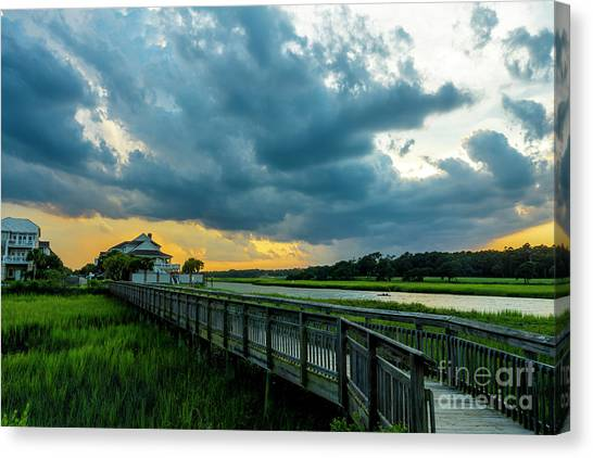 Cherry Grove Channel Marsh Canvas Print
