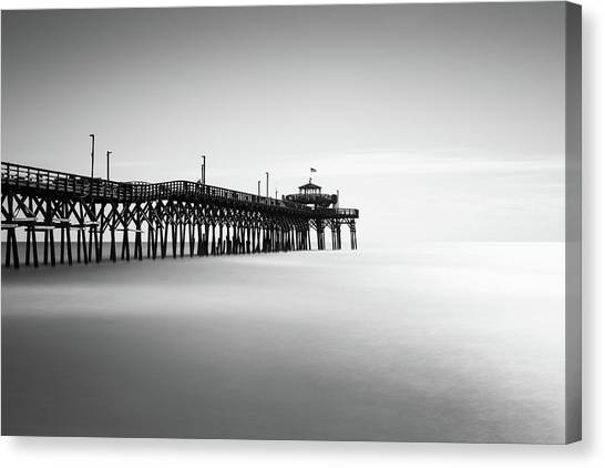 Grove Canvas Print - Cherry Grove Fishing Pier by Ivo Kerssemakers