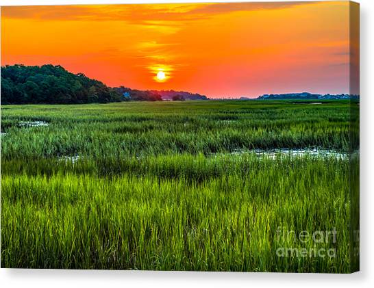Cherry Grove Marsh Sunrise Canvas Print
