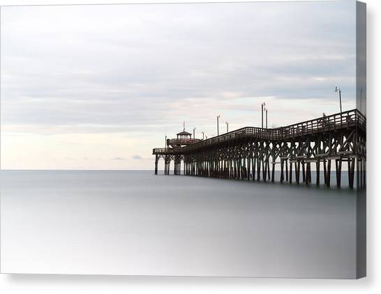Grove Canvas Print - Cherry Grove Pier II by Ivo Kerssemakers